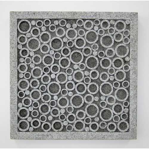 """1"""" x 17"""" x 17"""" Brown, Sandstone, Square, Bubble Design - Wall Decor"""