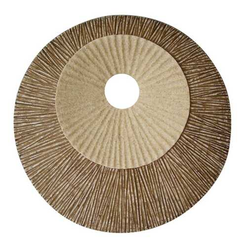 """1"""" x 19"""" x 19"""" Brown, Round, Double Layer Ribbed - Wall Plaque"""