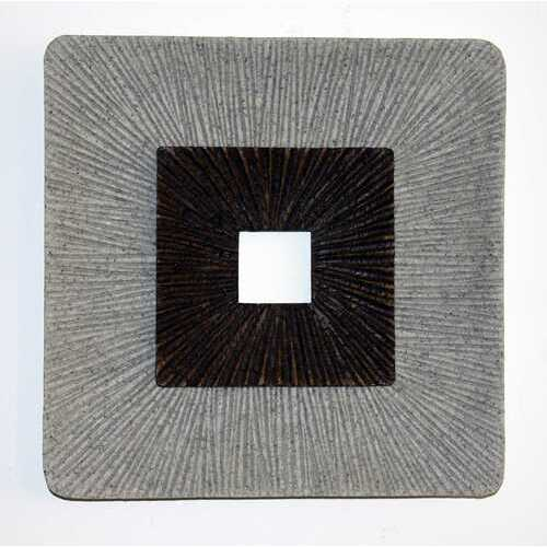"""1"""" x 19"""" x 19"""" Brown & Gray, Enclave Square, Ribbed - Wall Art"""