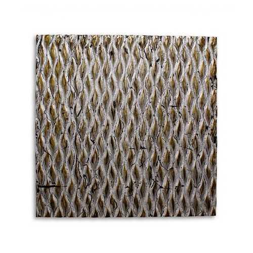 """1"""" x 24"""" x 24"""" Silver, Metallic Ridge - Wall Art"""