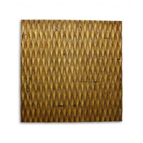 "1"" x 24"" x 24"" Gold, Metallic Ridge - Wall Art"