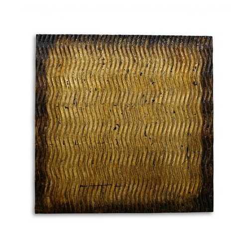 """1"""" x 24"""" x 24"""" Bronze, Metallic S Pattern - Wall Art"""