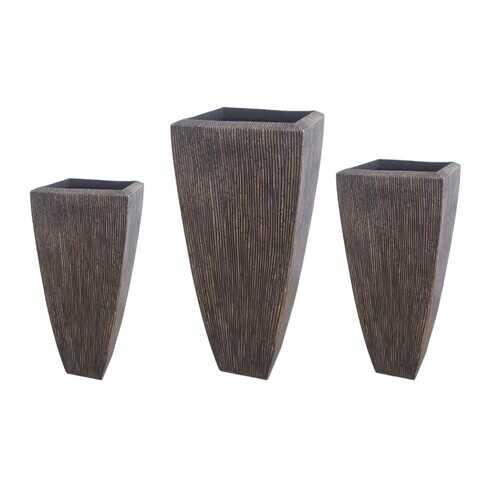 "1"" x 17"" x 39"" Sandstone, Ribbed, Long Square - Planter"