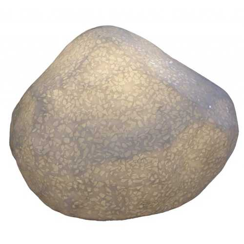 """1"""" x 17"""" x 12"""" Sandstone, Polished with Light And Glass Pieces - Outdoor Stone"""