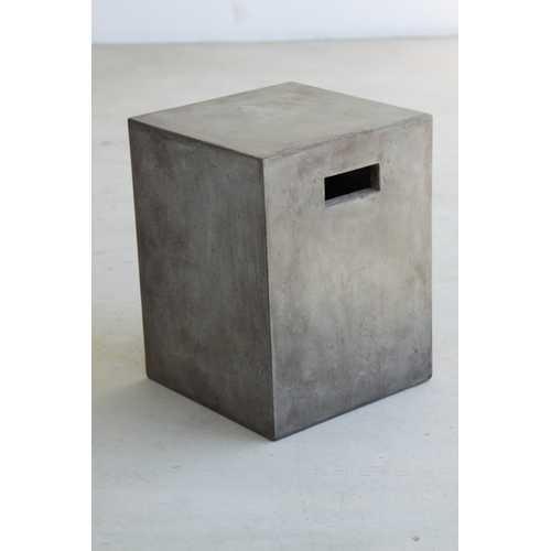 "18"" Concrete Dining Stool"