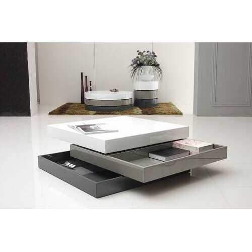 "12.5"" 3 Tone MDF Square Coffee Table"