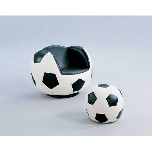 All Star 2Pc Pack Chair & Ottoman, Soccer