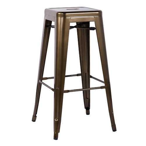 "17"" X 17"" X 30"" 2pc Bronze Steel Bar Stool"