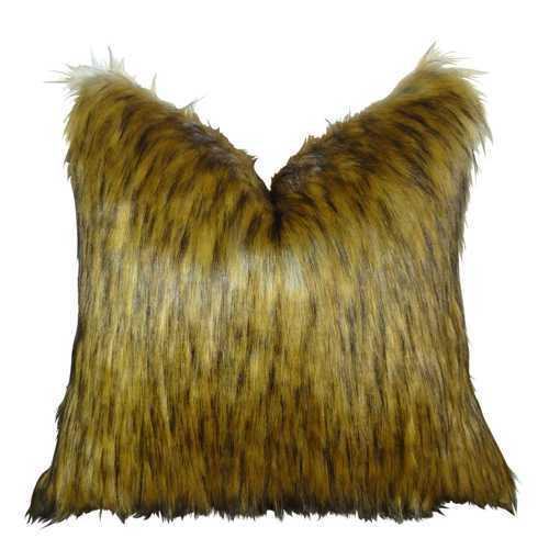 Golden Wolf Handmade Throw Pillow