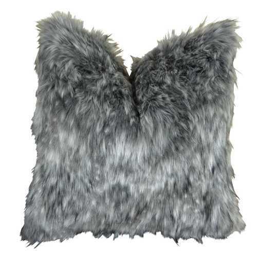 Gray Wolf Handmade Throw Pillow