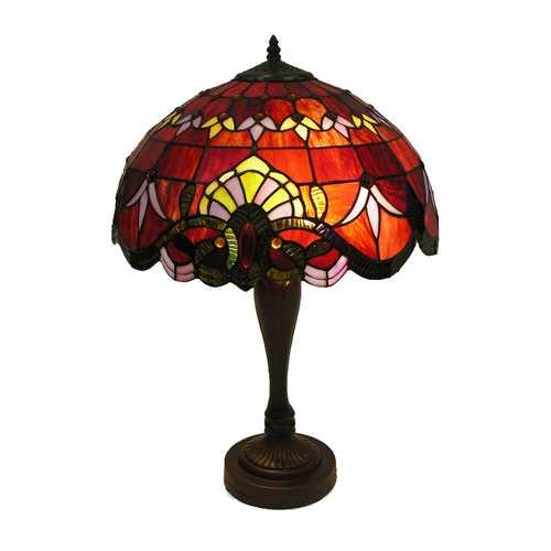 'Ecota' Tiffany Style 2-light Table Lamp