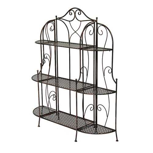 "48"" Blackened Copper Steel Baker's Rack with 3 Standard Shelves"