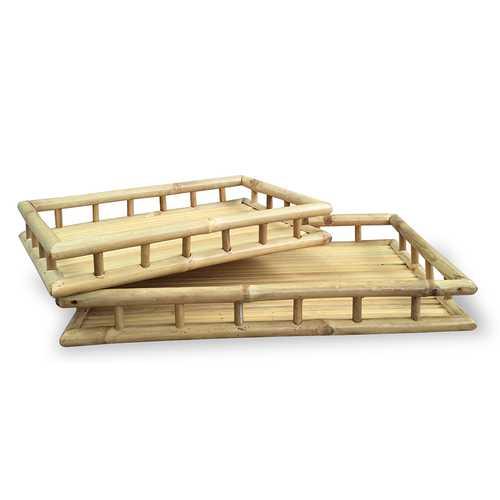 """24"""" X 15'.4"""" X 3"""" Natural Bamboo   Natural Bamboo Nesting Trays"""