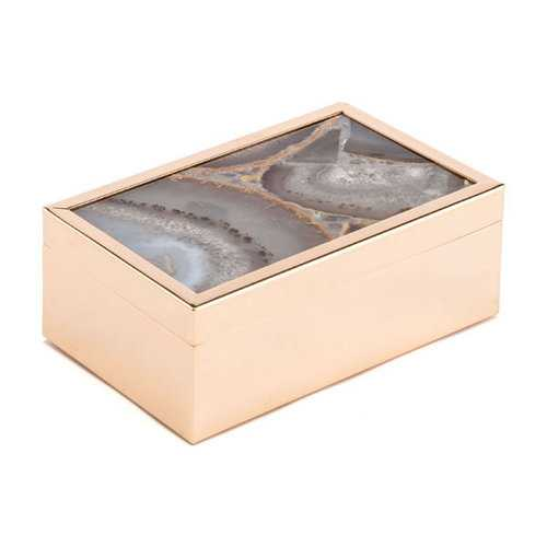 "6.3"" X 3.9"" X 2.4"" Small White Stone Box"