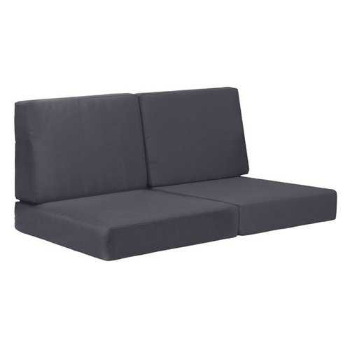 "49"" X 26.5"" X 22"" Dark Gray Cushions Sofa"