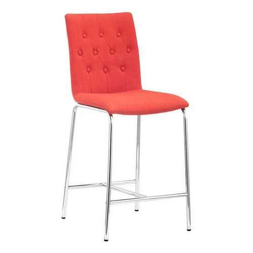 "16.5"" X 19.7"" X 39"" 2 Pcs Tangerine Polyblend Counter Chair"