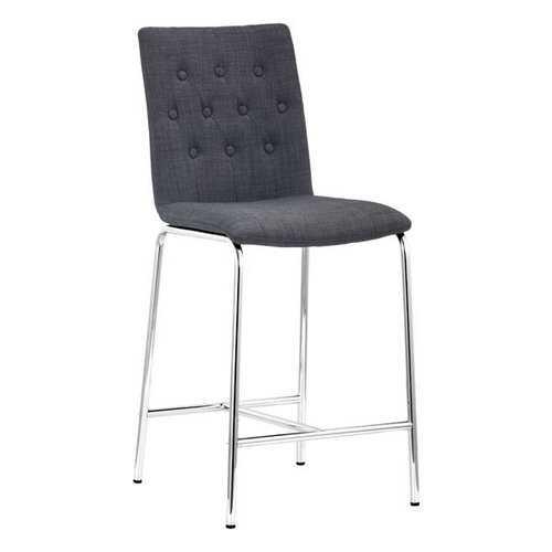 "16.5"" X 19.7"" X 39"" 2 Pcs Graphite Polyblend Counter Chair"