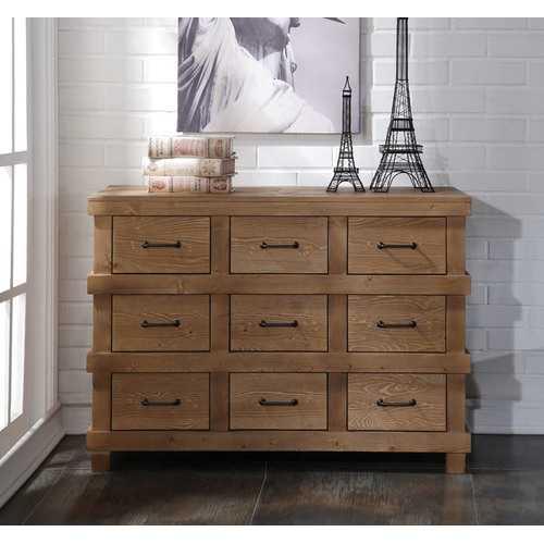 Dresser, Antique Oak - Pine Wood (New Zealand),  Antique Oak