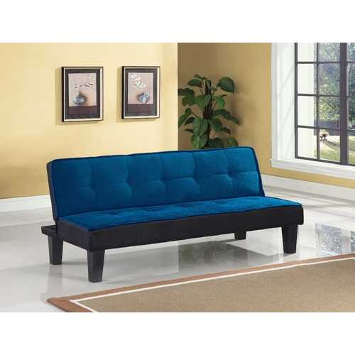 Flannel Fabric Adjustable Sofa, Blue