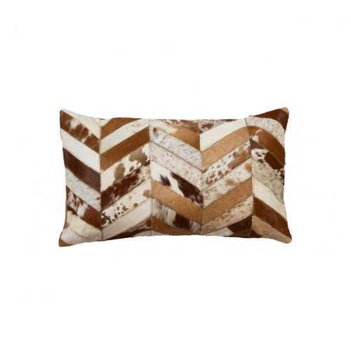 "12"" x 20"" x 5"" Brown And Natural - Pillow"