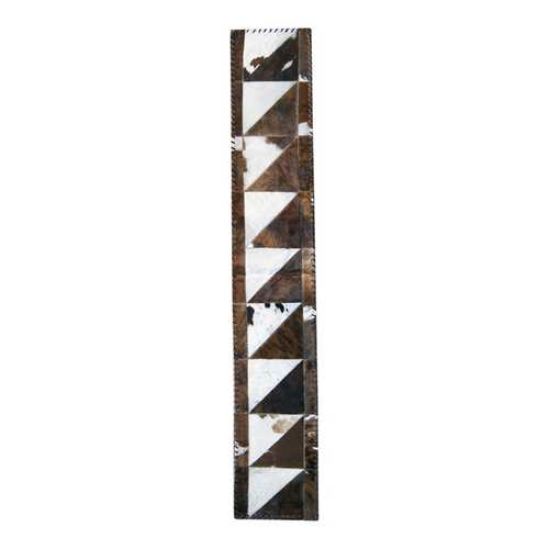 """1"""" X 6"""" Chocolate And Natural Runner Stitch Cowhide Area Rugs"""