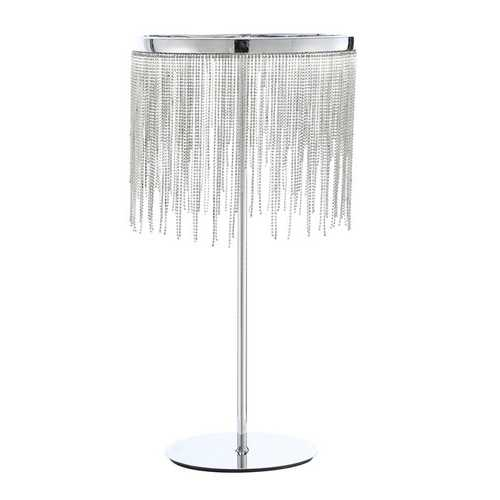 "12"" X 12"" X 23"" Chrome Metal Table Lamp"