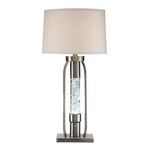 "15"" X 15"" X 31"" Sand Nickel Table Lamp"