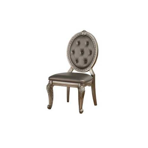 """20"""" X 24"""" X 42"""" 2pc Antique Champagne Side Chair"""