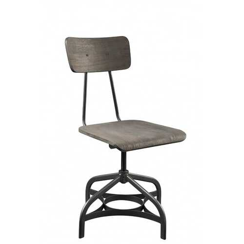 """17"""" X 21"""" X 34"""" 2pc ray Oak And Sandy Gray Side Chair"""