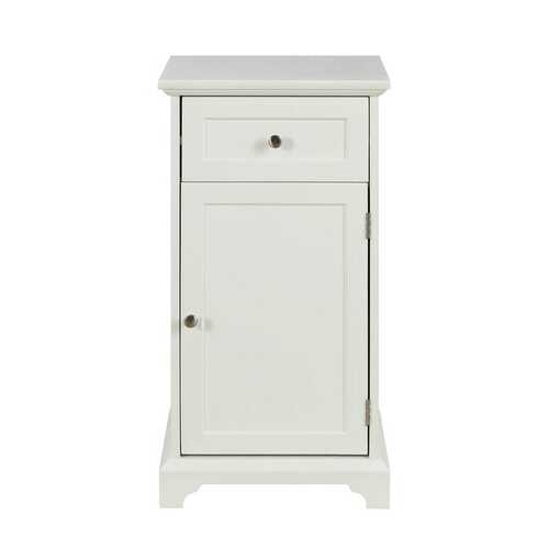"16"" X 13"" X 30"" White Mdf Cabinet"