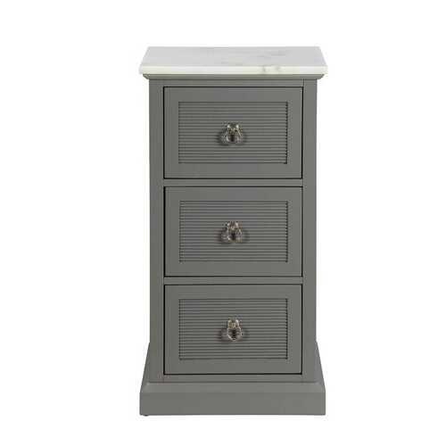 """16"""" X 13"""" X 30"""" Grey Mdf Cabinet"""