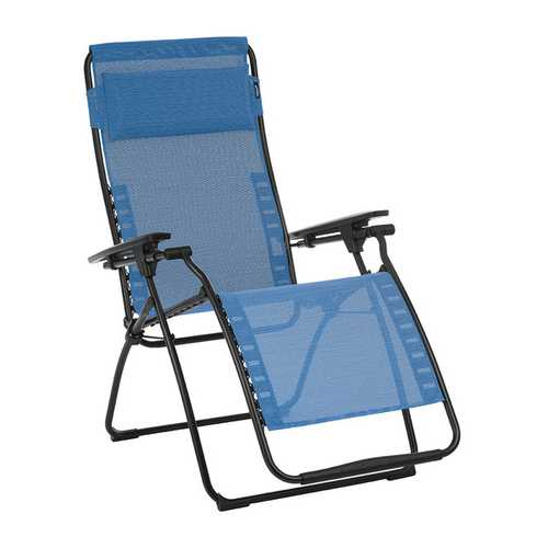 Zero Gravity Recliner - Black Steel Frame - Outremer Duo Fabric