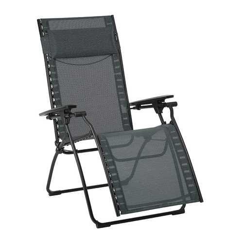 Zero Gravity Recliner - Black Steel Frame - Obsidian Duo Fabric