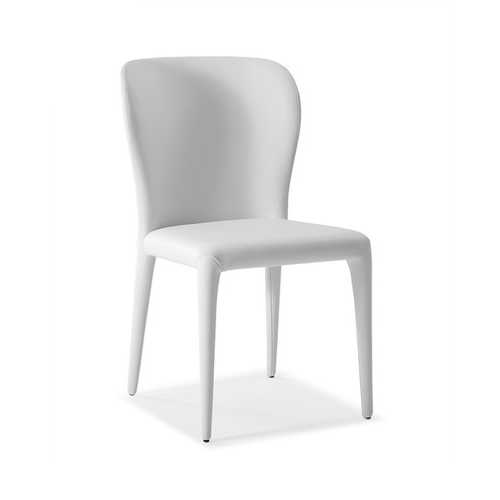 """20"""" X 24"""" X 35"""" White Faux Leather or Metal Dining Chair"""