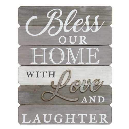 """Bless Our Home With Love And Laughter"" Wall Art"