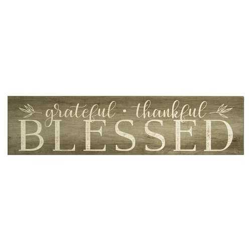 """Grateful, Thankful, Blessed"" Wall Art"