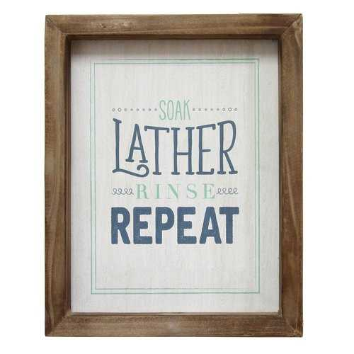 """Soap Lather Rinse Repeat"" Wall Art"