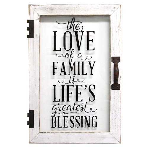 """Life's Blessings'"" Metal Wood Wall Decor"