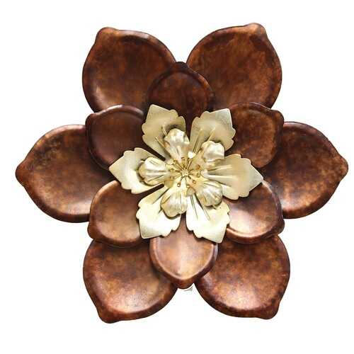 "12.4"" X 1.57"" X 12.4"" Multi-color Whimsical Flower Wall Decor"