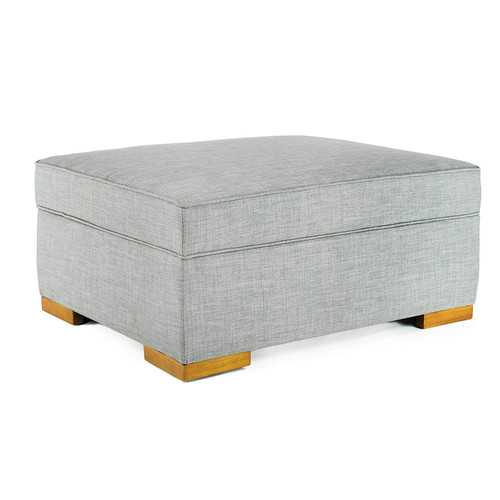 """28.5"""" X 35"""" X 16.25"""" Gray Fabric Convertible Ottoman Guest Bed"""