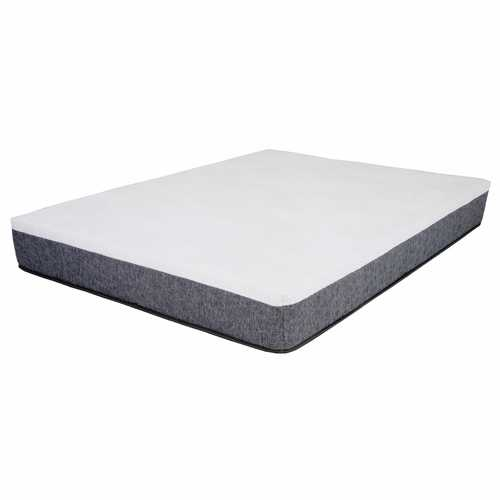 "12"" Twin White & Gray Gel Memory Foam Mattress"