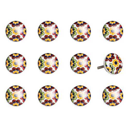 "1.5"" X 1.5"" X 1.5"" Multi-Color 12 Pack Knob-It K000019"