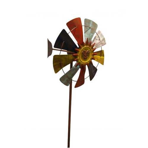70 Inch Multicolor Windmill Stake