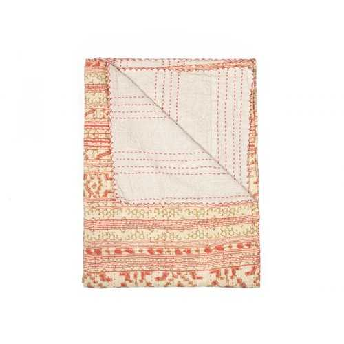 "50"" x 70"" Multicolored, Flawless, Kantha - Throw"