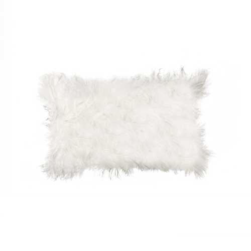 "12"" x 20"" x 5"" Contemporary Black Mongolian Sheepskin - Pillow"
