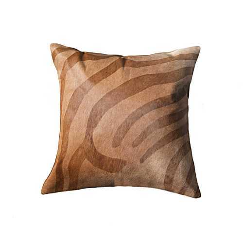 "12"" x 20"" x 5""  Stunning Natural Torino Kobe Cowhide - Pillow"
