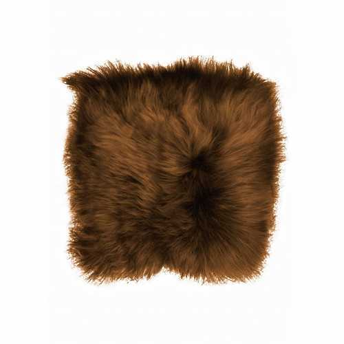 "15"" x 15"" x 2"" Rusty Brisa, Sheepskin, Square - Chair Pad"
