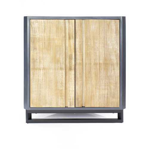 """32"""" Grey MDF, Wood, and Mirrored Glass Corner Cabinet with 2 Doors"""