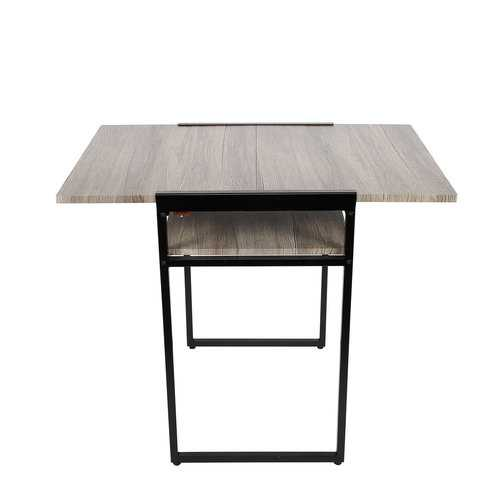 """29.9"""" X 35.4"""" X 23.6"""" Black Small Space Desk and Dining Table"""