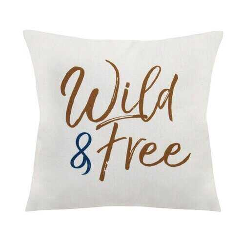 """Wild & Free"" Square Pillow"